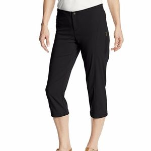 Columbia Womens Cropped Nylon Hiking Pants Black 8